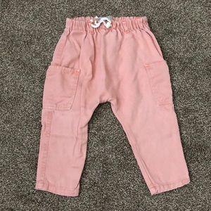 Pink harem pants
